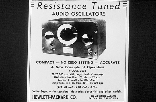 HP's Audio Oscillator