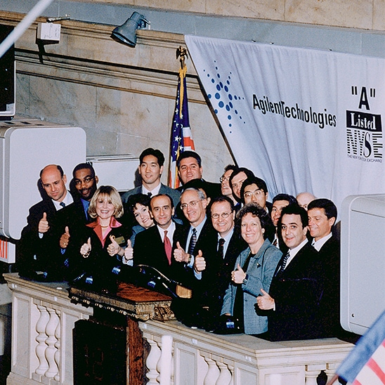 Agilent's IPO at the NYSE in 1999