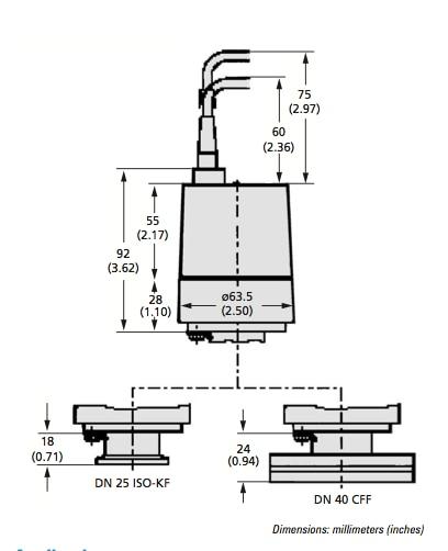 FRG-700 Series Pirani Inverted Magnetron Gauge Outline Drawing