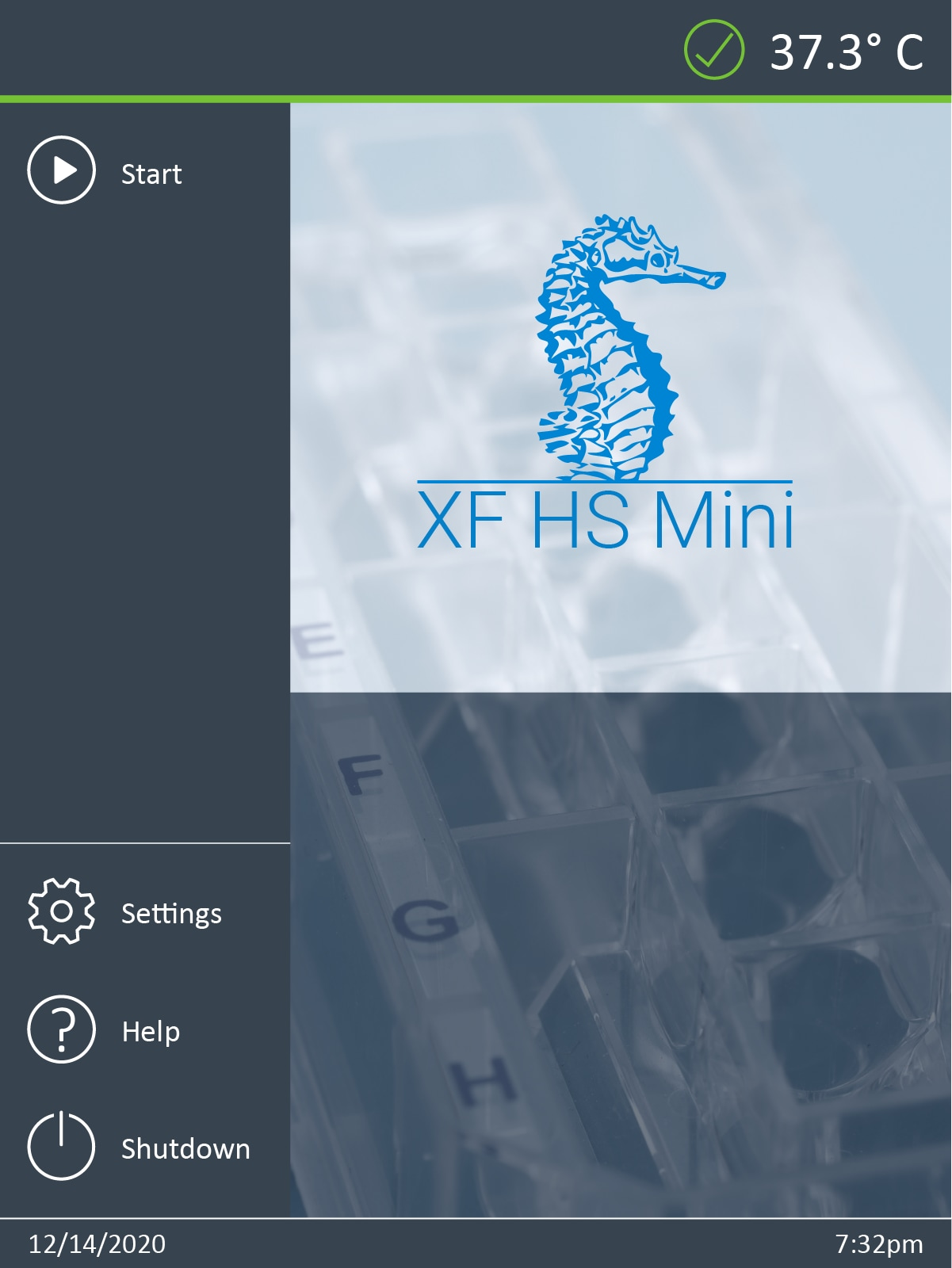 XF HS Start Screen
