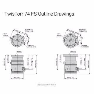 Small Turbo Pump, 70 L/s Turbo Pump, TwisTorr 74 FS | Agilent
